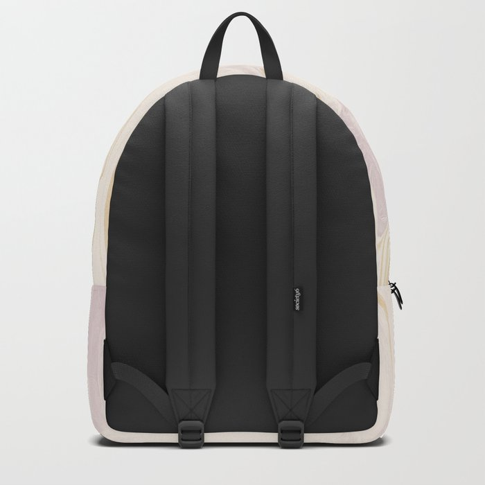 Liquid Rose Gold Marble Backpack