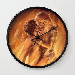 True Love In Flagranti Wall Clock