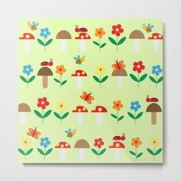 Meadow pattern Metal Print
