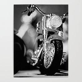 Motorbike-B&W Poster