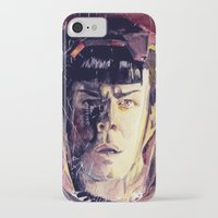 spock iPhone & iPod Cases featuring Spock  by margaw