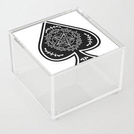 Ace of Spades Pentagram Star, Fun Gift Idea Design Acrylic Box