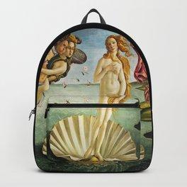 Sandro Botticelli (Italian, 1444-1510) - Title: The Birth of Venus - Original Title: Nascita di Venere - Date: 1485 - Style: Early Renaissance - Genre: Mythological - Media: Tempera on canvas - Digitally Enhanced Version (1500 dpi) - Backpack