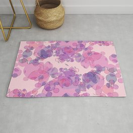Boiling water in magenta: soft abstract digital art fashionable modern colors Rug