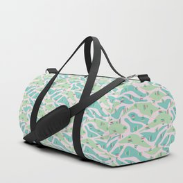 Pink green abstract landscape Duffle Bag