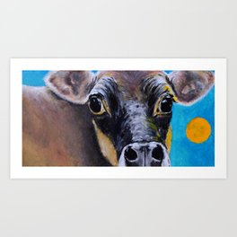 Moon: The Eyes of a Jersey Cow Art Print