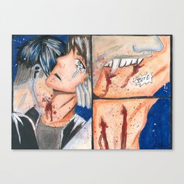 Biting Canvas Print