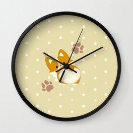 CORGI BUTT Wall Clock