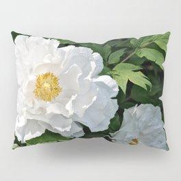 White Peonies Pillow Sham