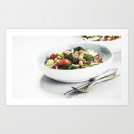Healthy vegan energy boosting salad Art Print