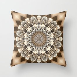 Seels - Delicate mandala S of Alphabet collection Throw Pillow