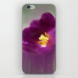 Purple Tulip Art iPhone Skin