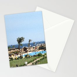 Stained Glass Resort Stationery Cards