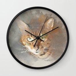 Sundara Guardian Shiva the Cat Wall Clock