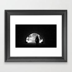 Central park silhouette Framed Art Print