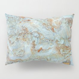 Marble in shades of blue and gold Pillow Sham