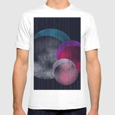 Abstract 3 MEDIUM Mens Fitted Tee White
