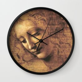 Head of a Woman - Leonardo Da Vinci Wall Clock