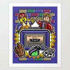 Everything is Awesome Mix Vol. 1 Art Print