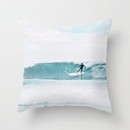 Surfing Day Throw Pillow
