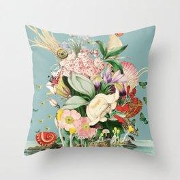 Midnight in the Octopus's Garden Throw Pillow