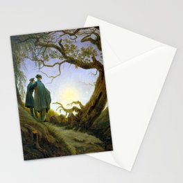 Caspar David Friedrich Two Men Contemplating the Moon Stationery Cards