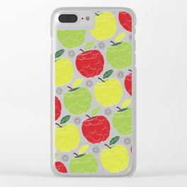 Apples Pattern Clear iPhone Case