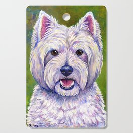 Colorful West Highland White Terrier Dog Cutting Board