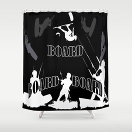 Board Board Board Kiteboarding Shower Curtain