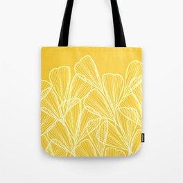 Golden Yellow Flora Tote Bag