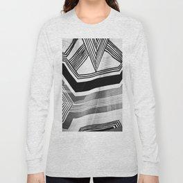 Modern Zebra Abstract Long Sleeve T-shirt
