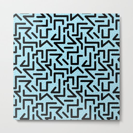 Memphis Labyrinth Metal Print