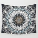 Gray, blue Mandala by luciena