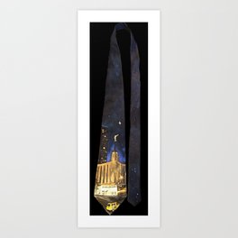 Manhattan NY LDS Temple Tie Art Print