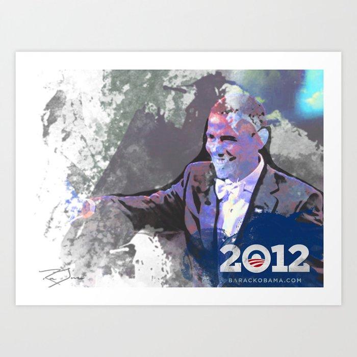 Obama 2012 Art Print