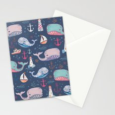 Whale Toss Stationery Cards