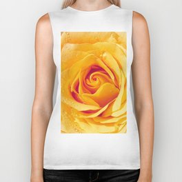 Gold Rose Bud- Yellow Roses and flowers Biker Tank