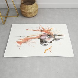 Horse watercolor painting Rug