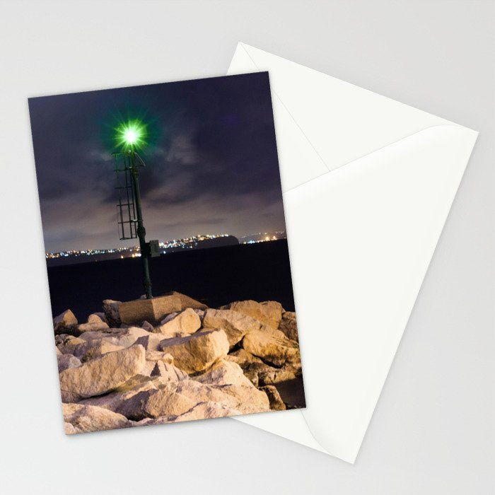The Green LIGHTHOUSE- Island of Ischia - Landscape Stationery Cards
