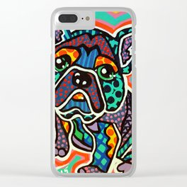 Eddie Designer Dog Puppy Pet Series Colorful Bright French Bulldog Pug Terrier Non Sporting Breeds Clear iPhone Case