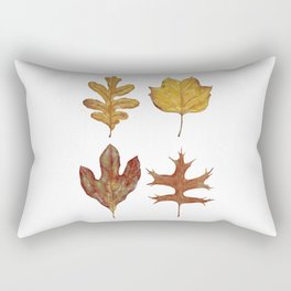 Fall Leaves Painting Rectangular Pillow