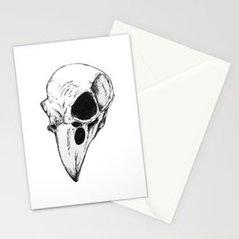Raven skull Stationery Cards