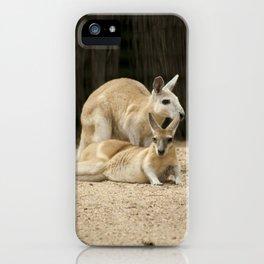 Cool Australian Kangaroos iPhone Case