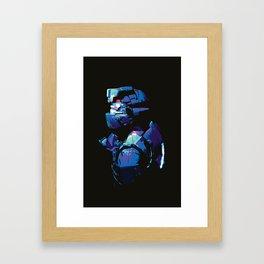 Dead Space: Splatter Isaac Framed Art Print
