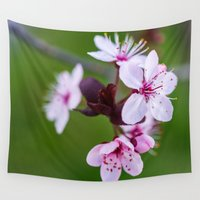 cherry blossom Wall Tapestries featuring Cherry Blossom. by Michelle McConnell