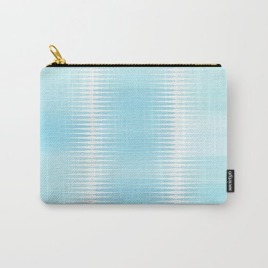 Ocean Blue Geometric Abstract Carry-All Pouch