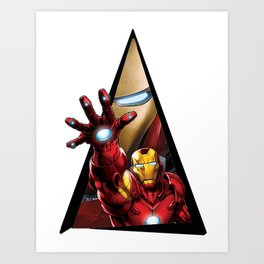 Youtriangle ∆ IronMan Art Print