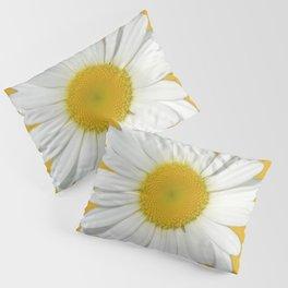 Daisy Flower White 987 Pillow Sham