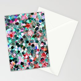 Colorful Sparkles Stationery Cards