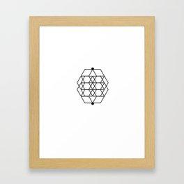 Mesh Geometry White Framed Art Print